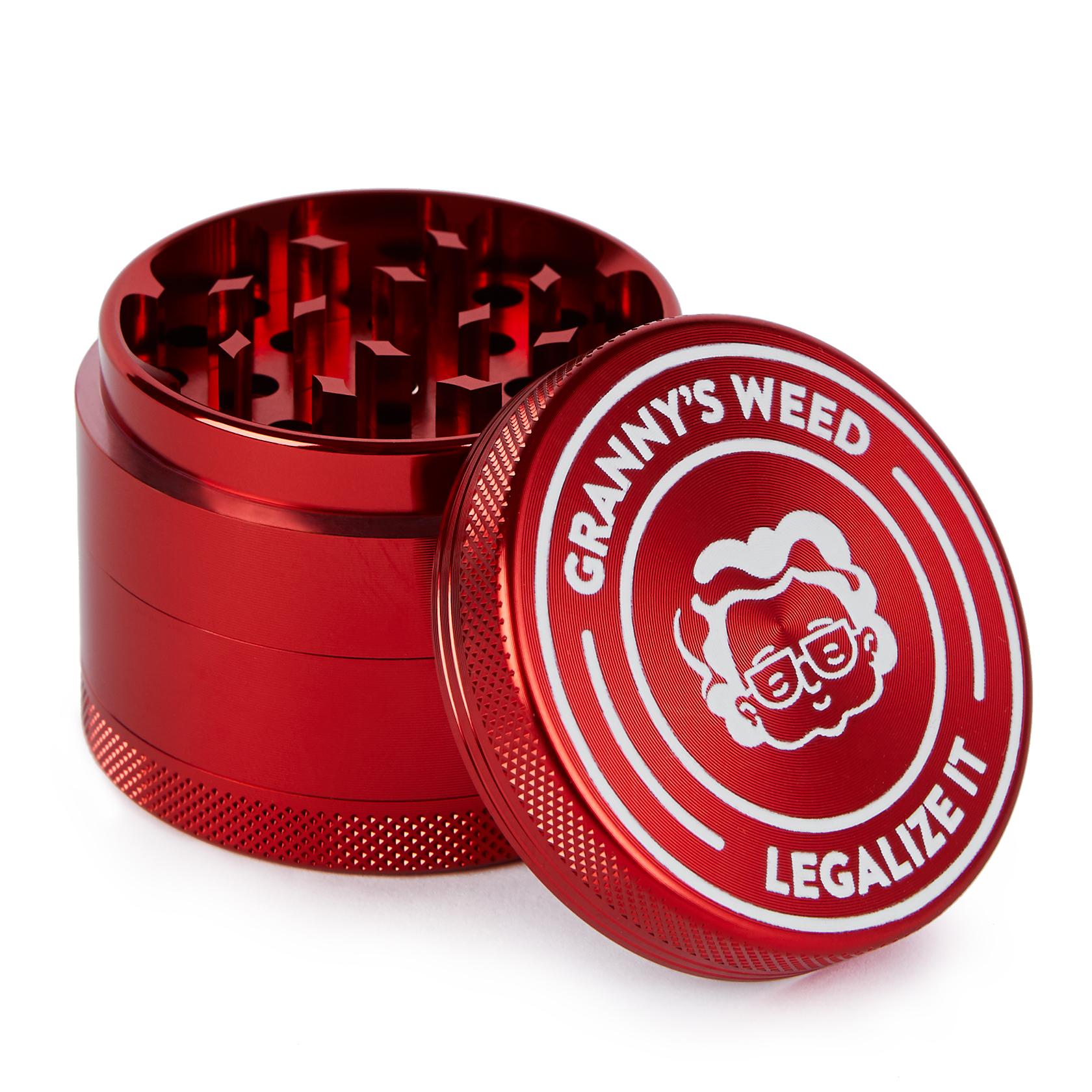 Grinder Aluminium Karmesinrot - Grannys Weed