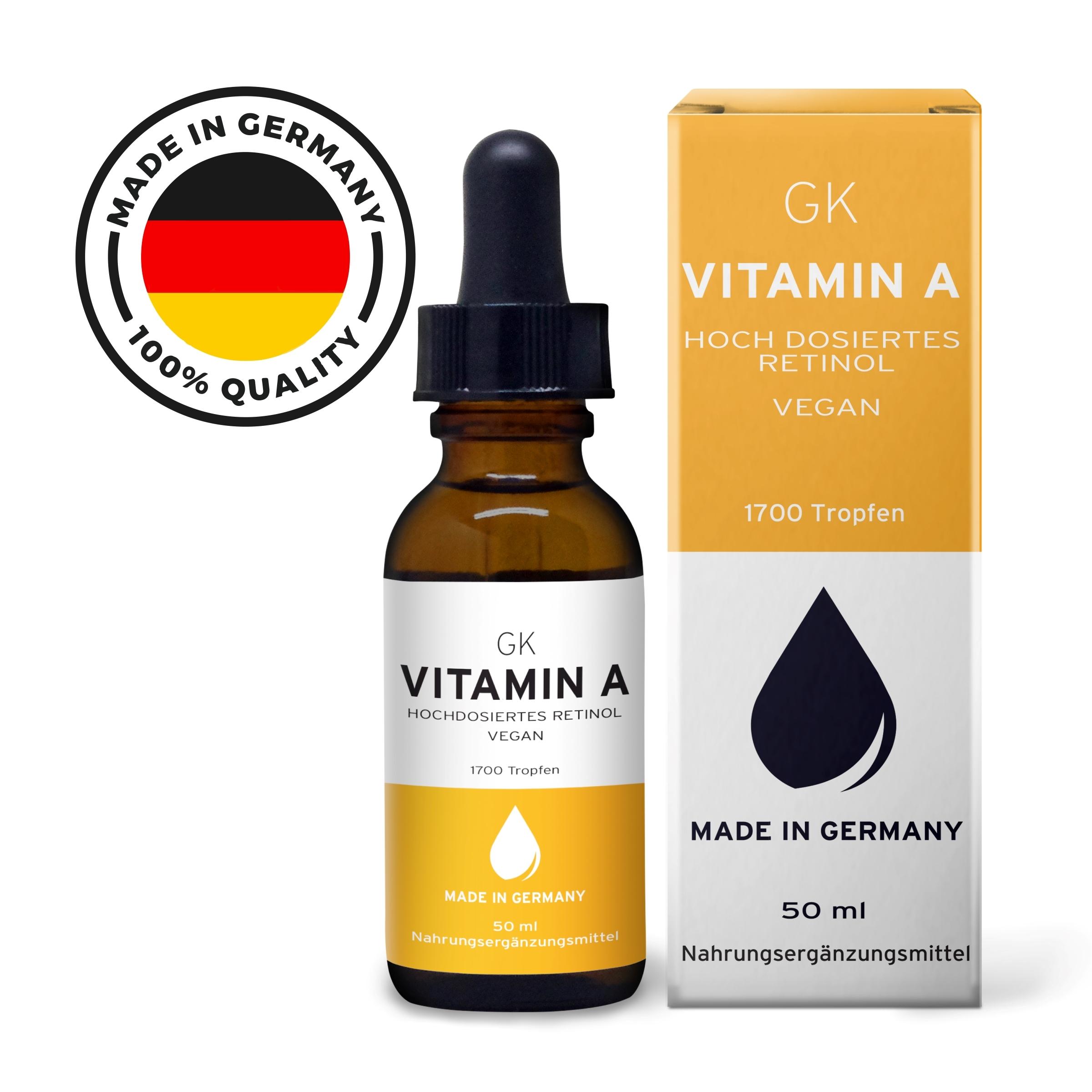 Vitamin A Tropfen hochdosiert - 50ml - Grinsekatze