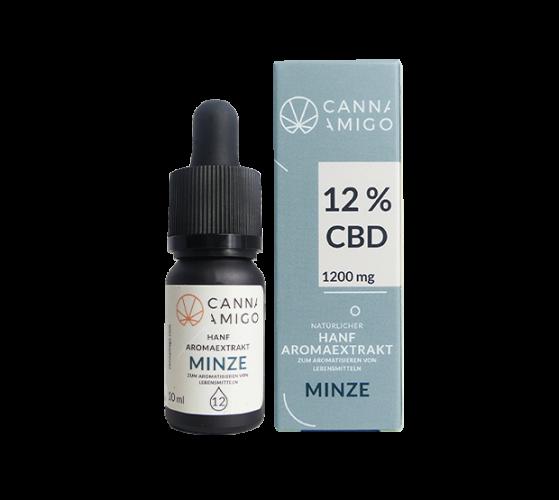 Cannamigo Premium CBD-Hanföl- MINZE 12%