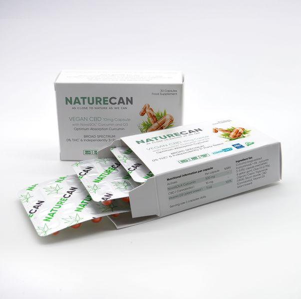 Kapseln 10mg Kurkumin Vitamin D3 - Naturecan