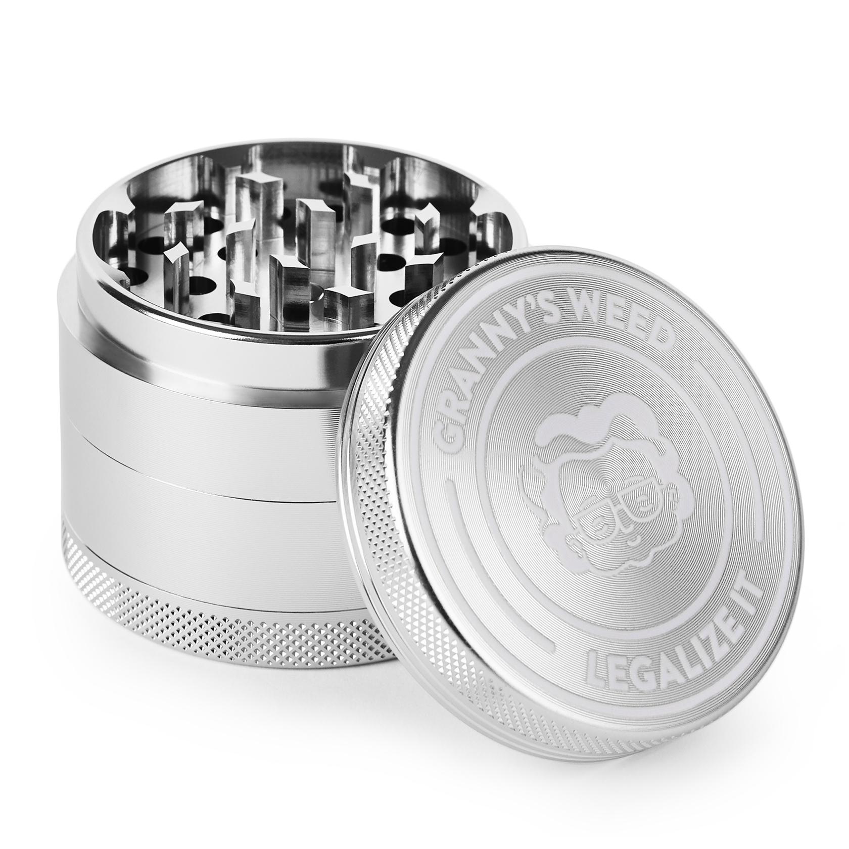Grinder Aluminium Silber - Grannys Weed