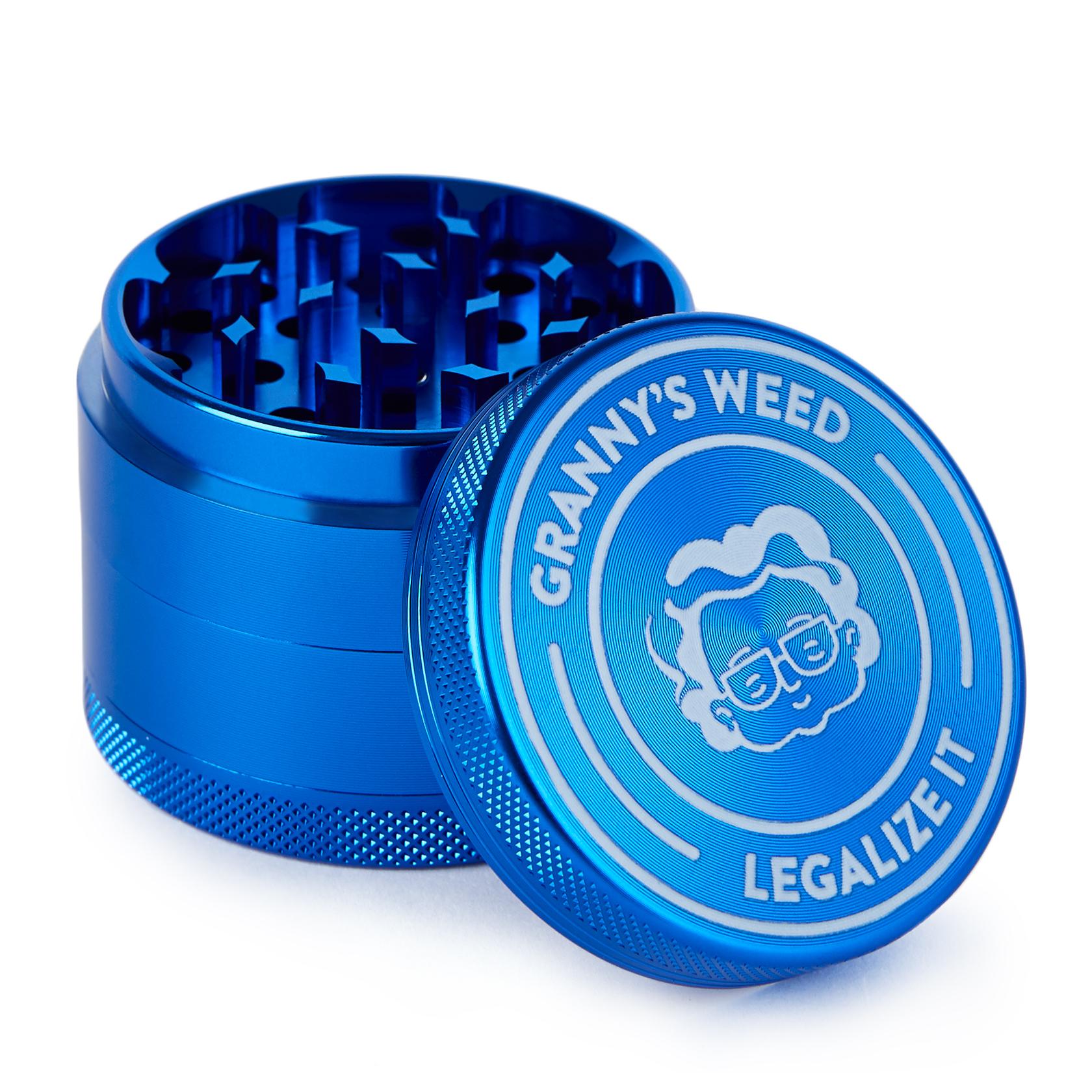 Grinder Aluminium Blau - Grannys Weed