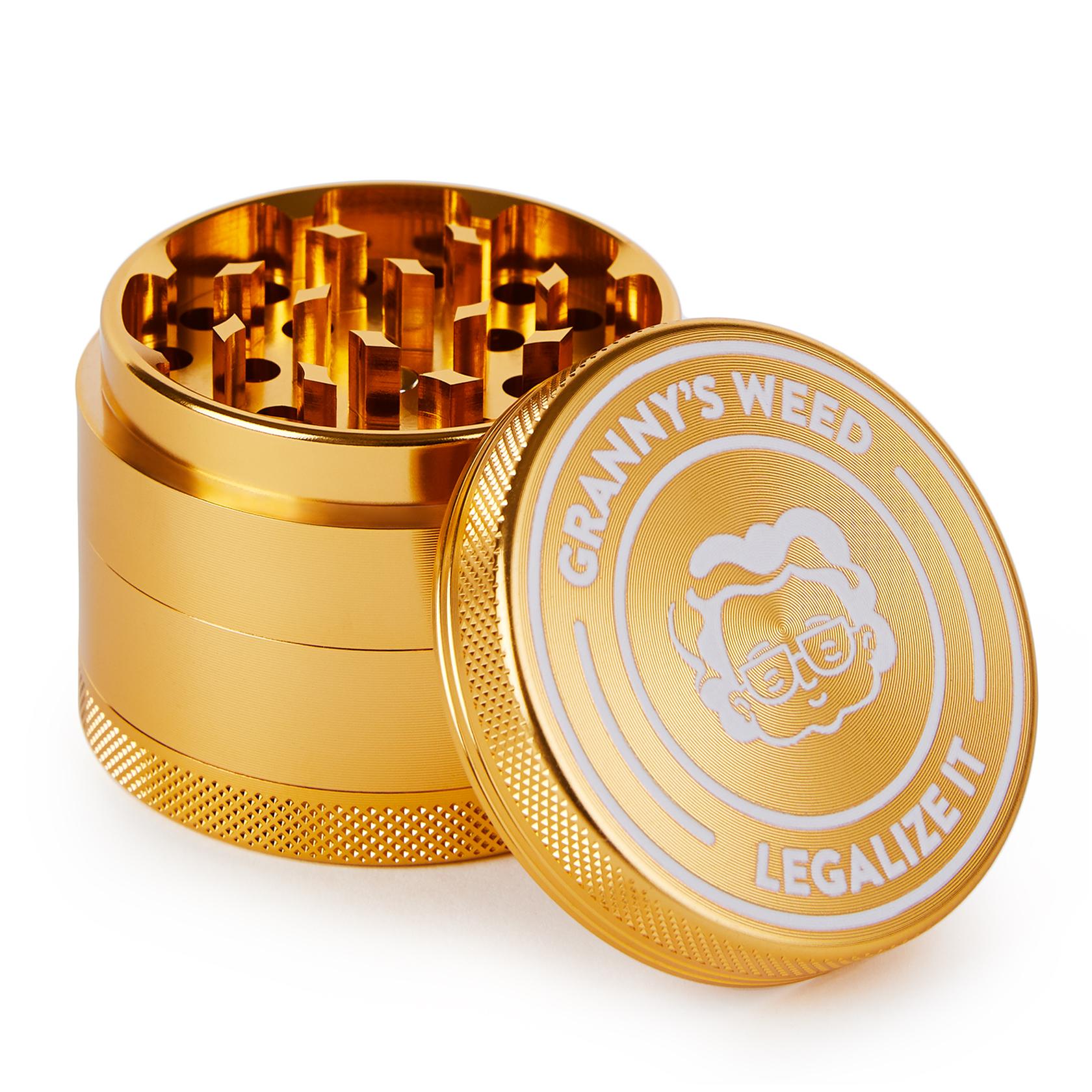 Grinder Aluminium Gold - Grannys Weed