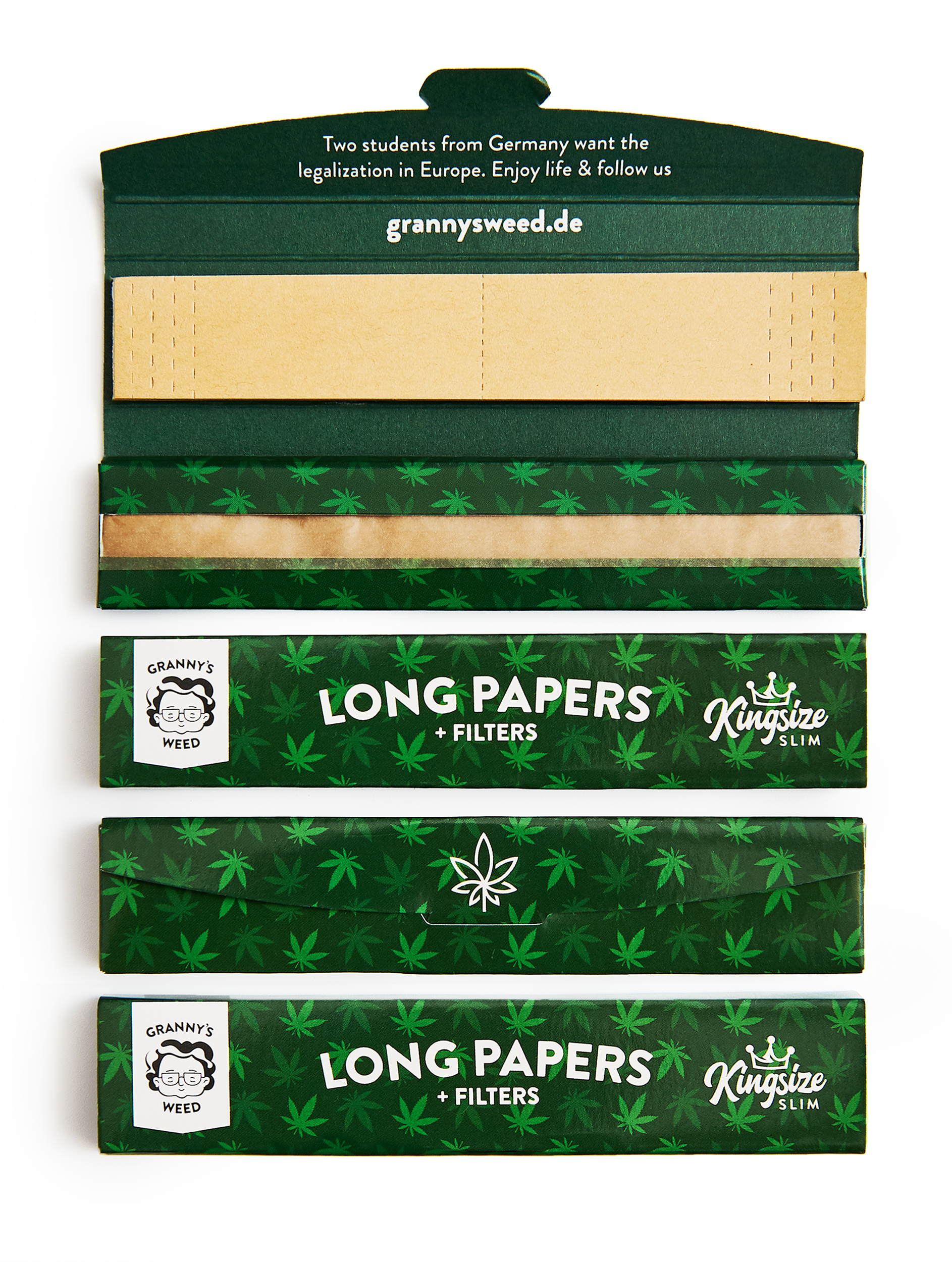 Long Papers extra Slim King Size - Grannys Weed