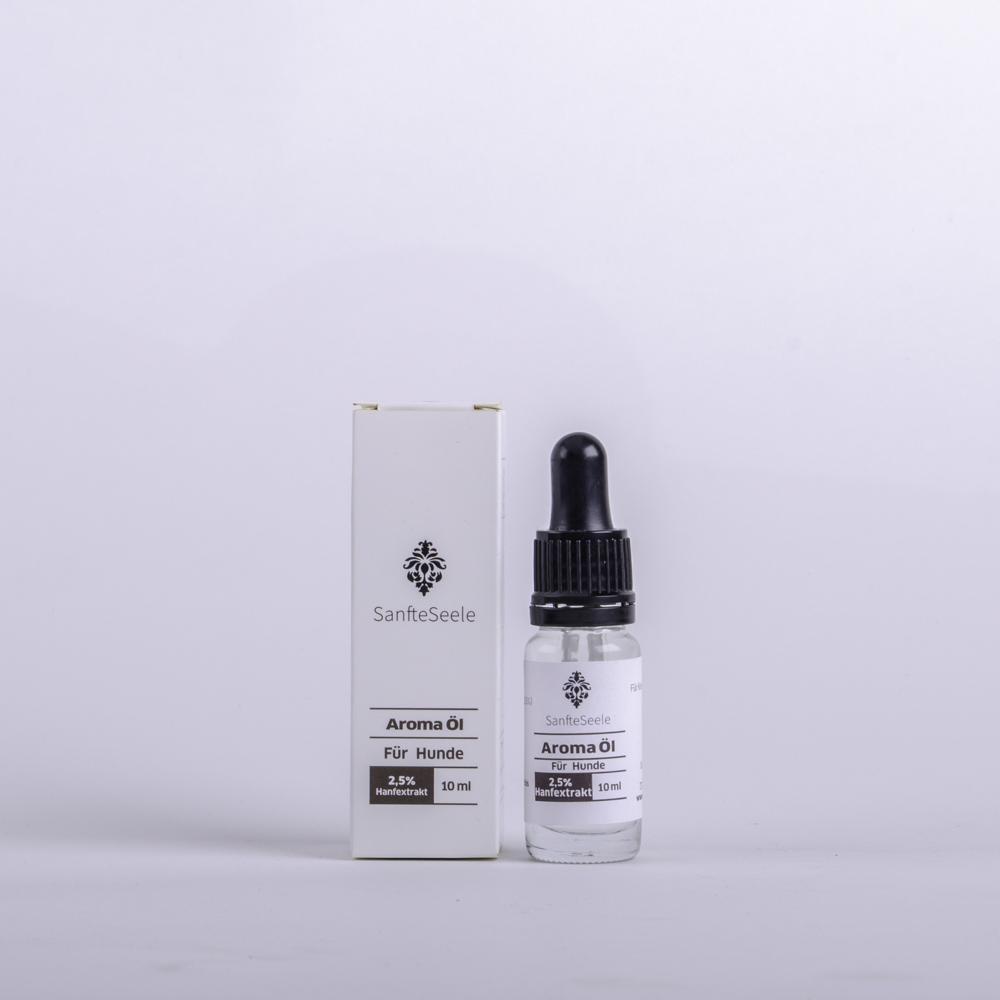 Sanfte Seele 2,5% CBD Aroma Öl Naturbelassen für den Hund 10ml