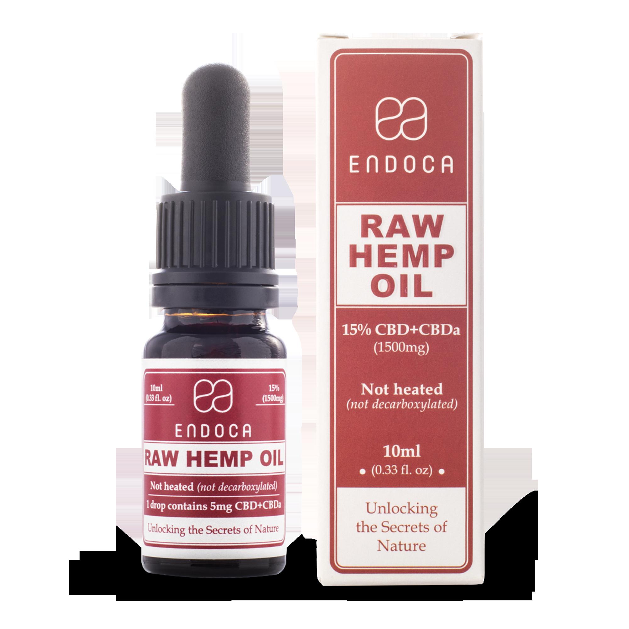 CBD Öl 15% | rohes Hanf-Öl | 10 ml | 1500 mg CBD/CBDa | Endoca