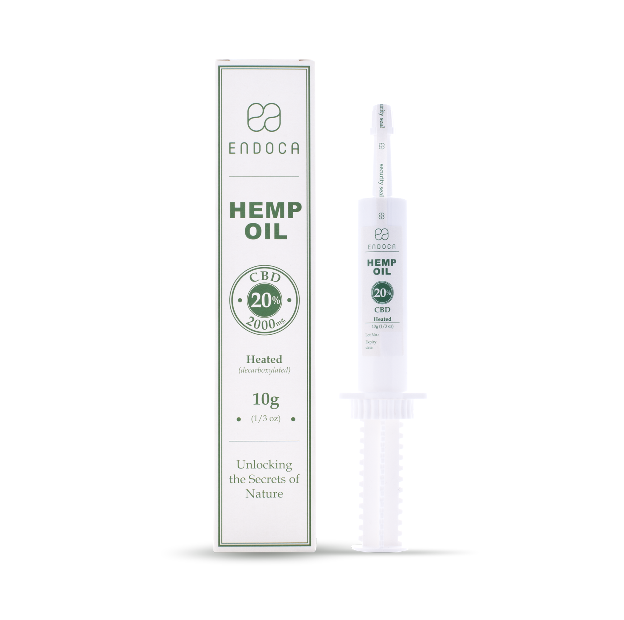 CBD Paste Raw Hemp Oil 20% | 10 ml | 2000mg CBD | Endoca