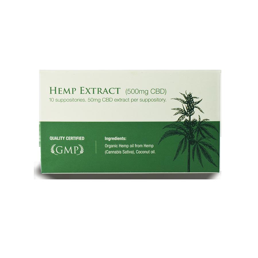 CBD-Zäpfchen | 10 Stück mit 500 mg CBD | Endoca