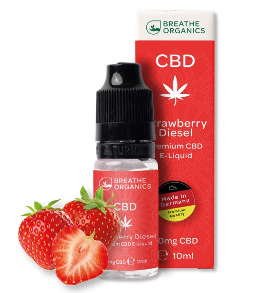 Liquid 100mg Strawberry Diesel - Breathe Organics