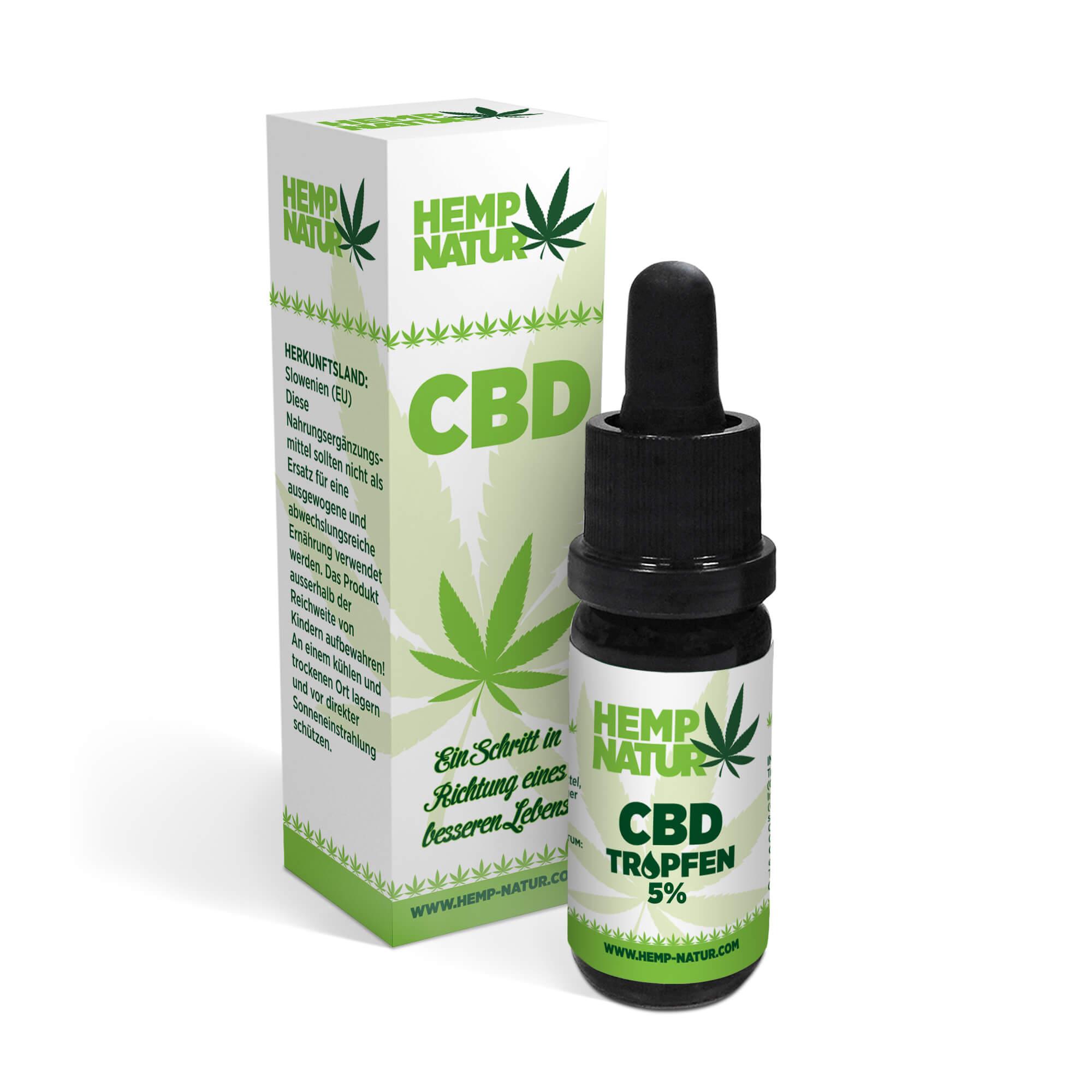 CBD Cannabis Öl 5% in Kokosöl [10 ml]