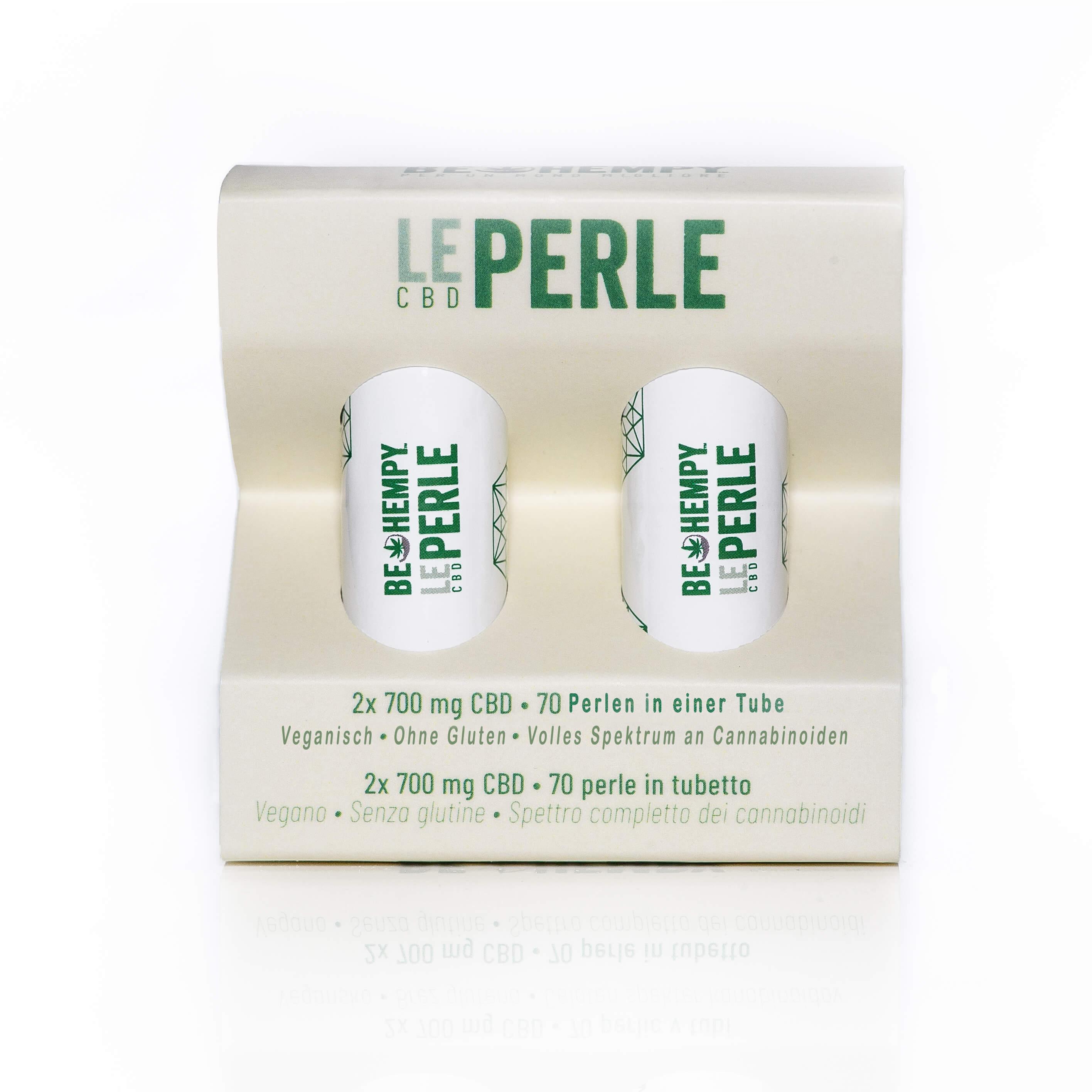 CBD Globuli - Le Perle, 2x 700 mg CBD Tube
