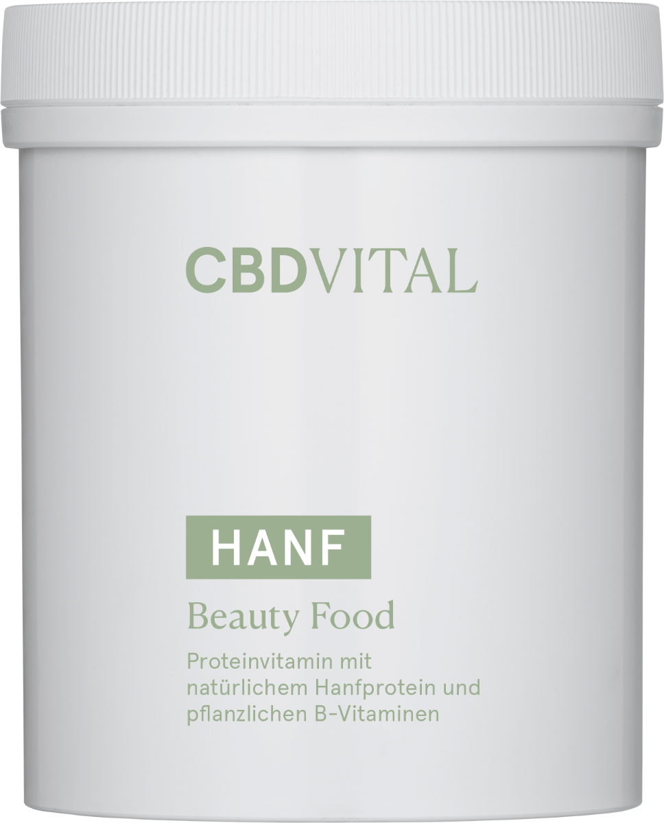 CBD-Vital Proteinvitamin mit Bio-Hanfprotein - beauty food